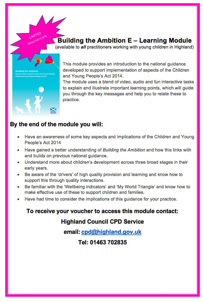 Building The Ambition E Learning Course Free Voucher For All